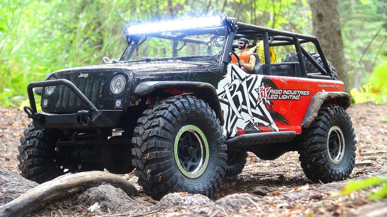 Rigid Industries Jeep Jk ... & Tricks - Axial SCX10 Jeep JK 4x4/ Rigid Industries Theme - YouTube