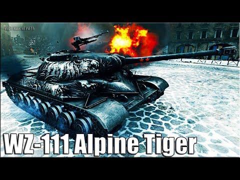 WZ-111 Alpine Tiger бой на китайском прем танке World of Tanks