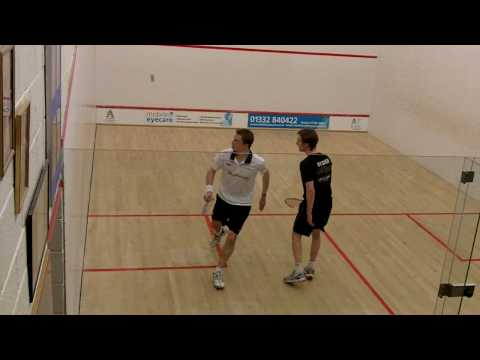 Nick Matthew squash rally PSL Duffield Squash Club