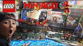 COME PLAY LEGOS! Ninjago Movie Sets Build & Display Case! Entire Minifigure Collection On Display!!