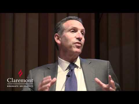 Starbucks Chairman Howard Schultz at Claremont Graduate University's Drucker Business Forum