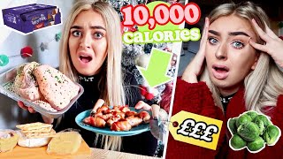 I TRIED to EAT 10,000 Calories in 24 HOURS! Girl VS Food Christmas Edition!