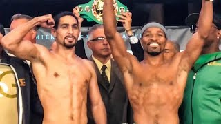 Danny Garcia vs Shawn Porter HEATED Face Off & Weigh In - BOXING