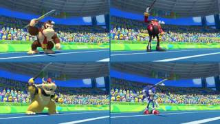 Mario and Sonic at the Rio 2016 Olympic Games for Wii U: Part 12 - Javelin (4-Player)