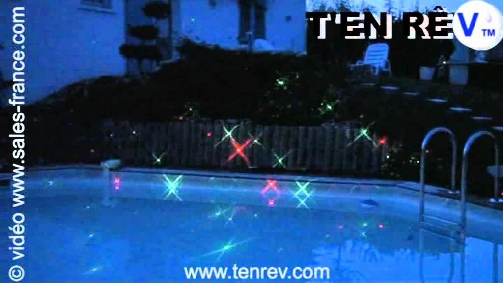 Clairage de piscine au laser d coration lumineuse maison for Decoration jardin lumineuse