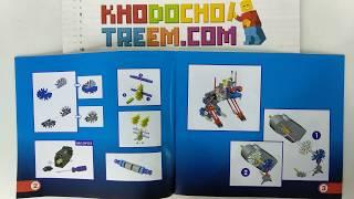 Hướng dẫn lắp ráp Loz 3020 Lego Jungle Robots Electric Bat Beast Robot giá sốc rẻ nhất