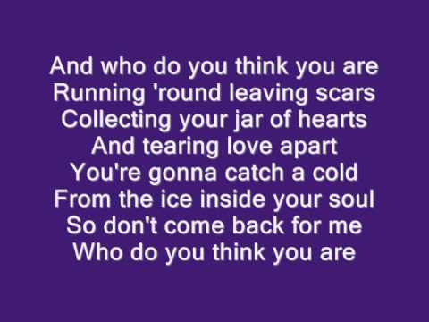 Jar of Hearts by Christina Perri with lyrics