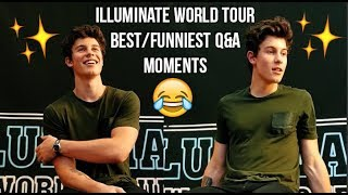 SHAWN MENDES ILLUMINATE WORLD TOUR BEST/FUNNIEST Q&A MOMENTS (ALL SHOWS)