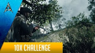 Battlefield 1 Sniping: 10x scope challenge w/ Lebel & Martini Henry on Argonne Forest 30-2