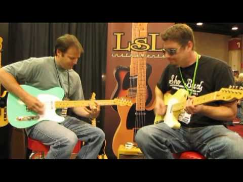 Matt Rae ane Forrest Lee Jr. at the LsL Booth - Summer NAMM '09