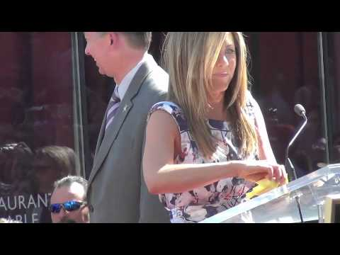 Jennifer Aniston Receives Star on Hollywood Walk of Fame