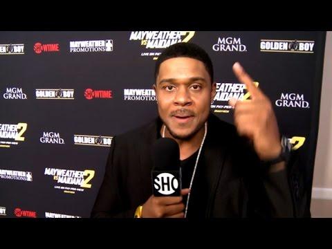 Ray Donovans Pooch Hall Interviews Stars at Mayhem Mayweather vs Maidana II