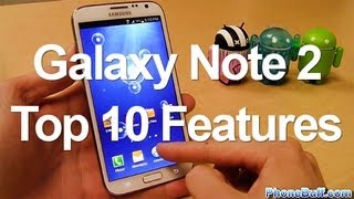 Samsung Galaxy Note 2 Top 10 Features