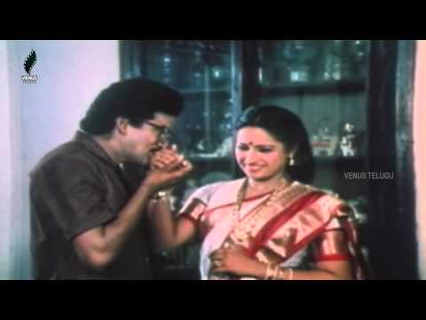Station Master Telugu Movie Scene – Comedy Scene Between Sakshi Ranga Rao – Rajendraprasad Photo Image Pic
