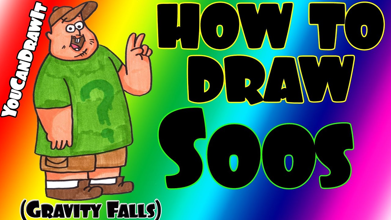Gravity Falls Printable Coloring Pages How to Draw Soos From Gravity