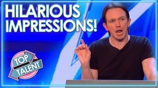 HILARIOUS Impressionists On Britain and America's Got Talent! | Top Talent