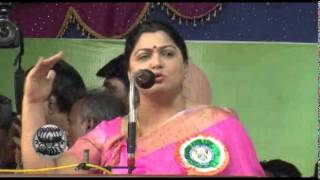 Actress Kushboo Speech for Congress Party in Public Meeting