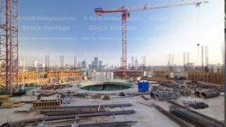 construction site on which to build high-rise buildings timelapse hyperlapse
