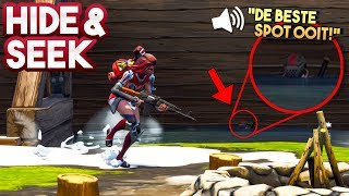 HIDE AND SEEK met een KIJKER #12!! - Fortnite Playground (Nederlands)