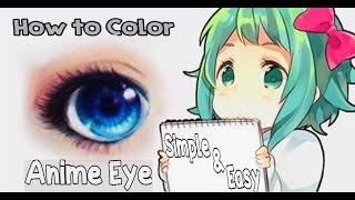 Anime Eye Coloring Tutorial Using Colored Pencils
