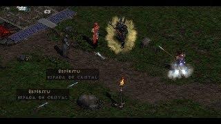 Diablo 2 Esp 😈 Creando la palabra rúnica Espíritu en espada de cristal