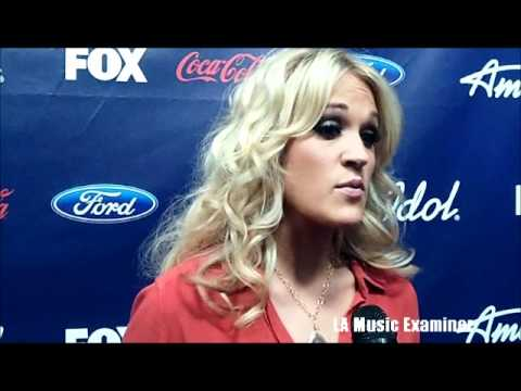 Carrie Underwood Backstage at American Idol 5-3-12