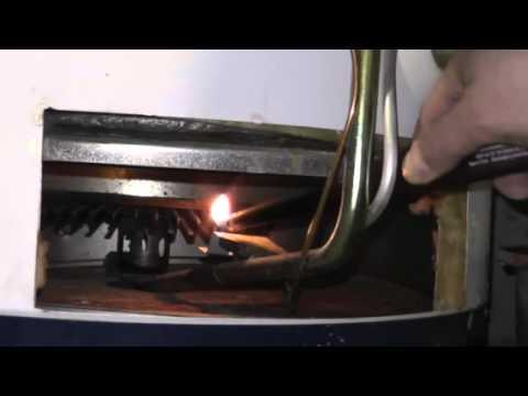 Como encender el piloto de un calentador de agua a gas - Calentador de agua de gas ...