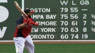 Gomes take batting practice with cricket bat