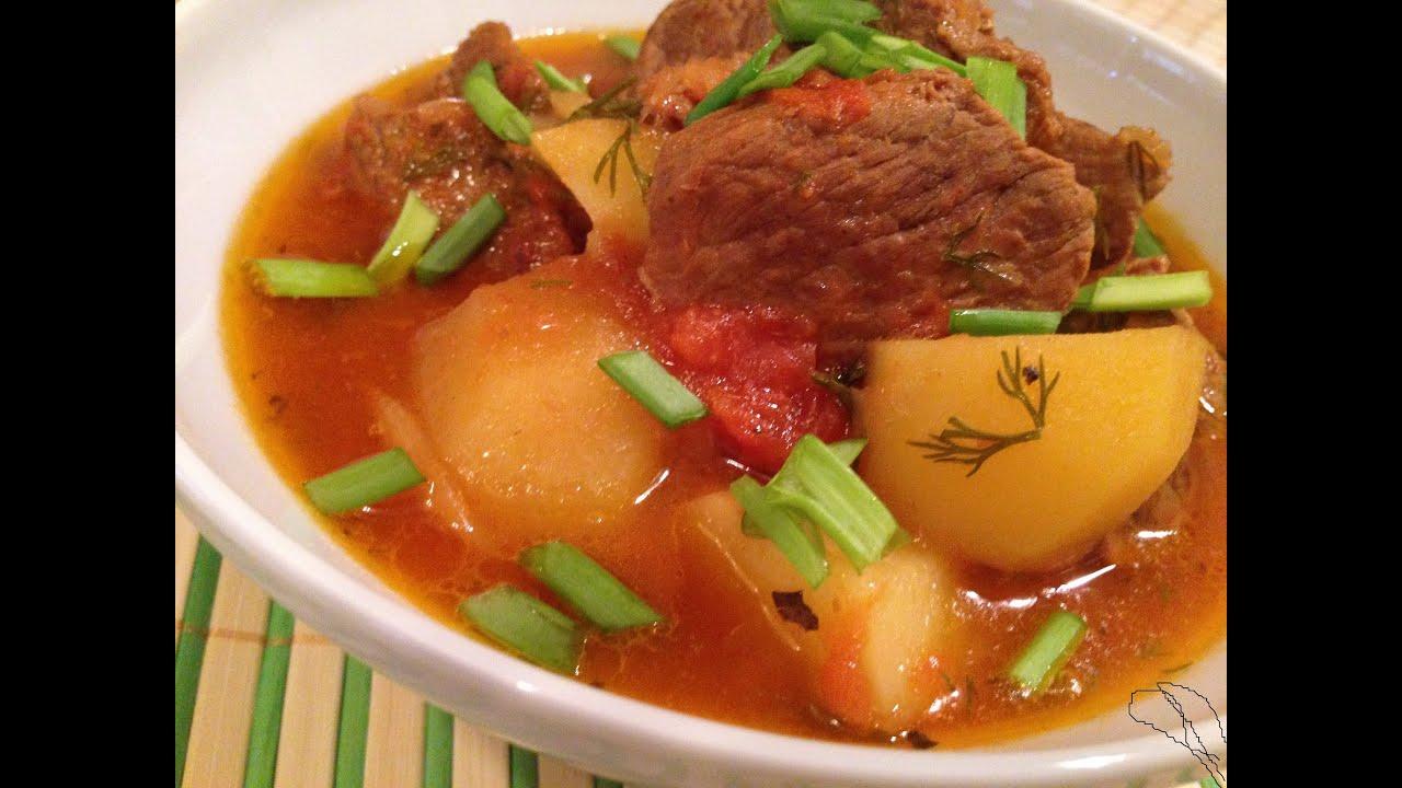 Суп соус из свинины с картошкой рецепт
