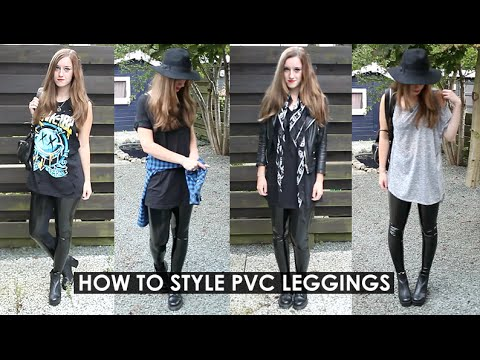 HOW TO STYLE BLACK MILK PVC LEGGINGS