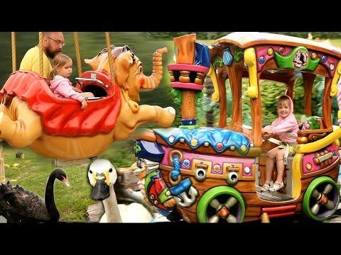 VLOG Парк аттракционов. Детский развлекательный центр. Видео для Детей Kids Amusement Park