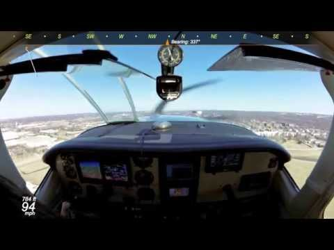 Flight to French Lick in a Cessna T210 with ATC and GPS