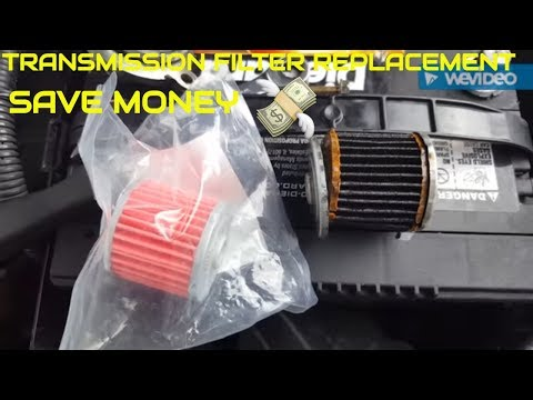 HOW TO CHANGE TRANSMISSION FILTER TUTORIAL