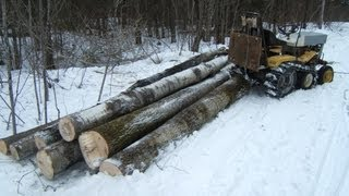 Homemade skidder and crawler Cub Cadet 169