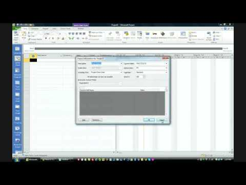 Creating a Master Schedule in Microsoft Project