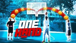 2Hype Bank ONE HAND Basketball Shooting Challenge !!