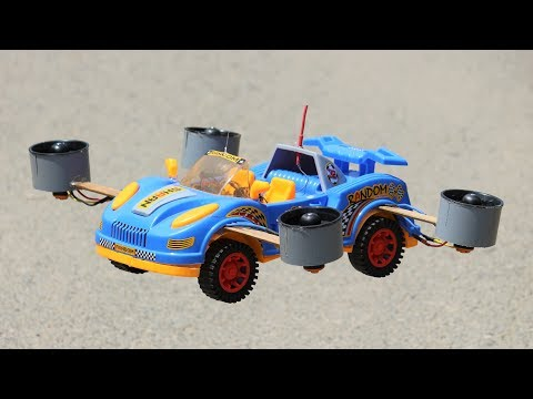 How to make a Drone Car - Helicopter Drone - Car