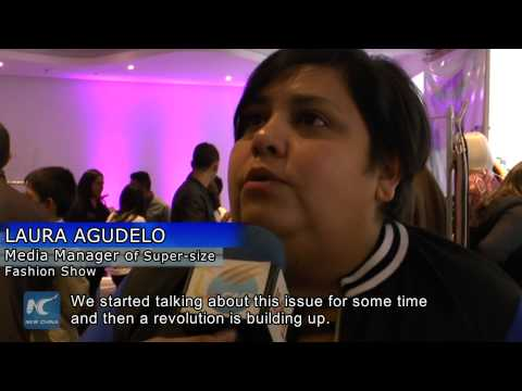 Super-size fashion show in Bogota aims to break stereotype of beauty