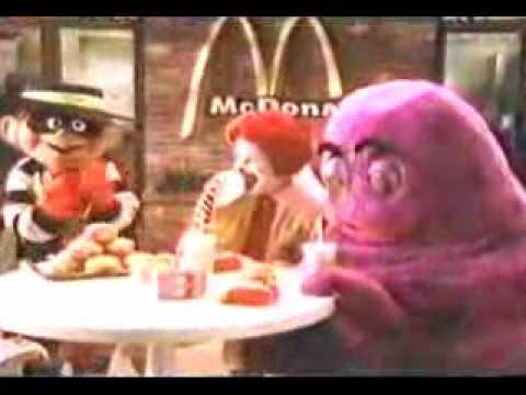 1984 Mcdonalds Grimace Commercial