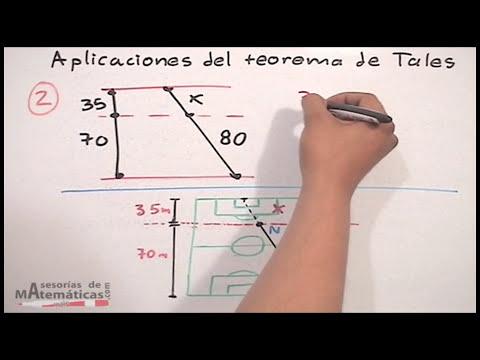 Aplicación del teorema de tales - HD