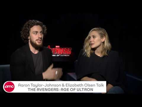 Aaron Taylor Johnson & Elizabeth Olsen Chat THE AVENGERS: AGE OF ULTRON
