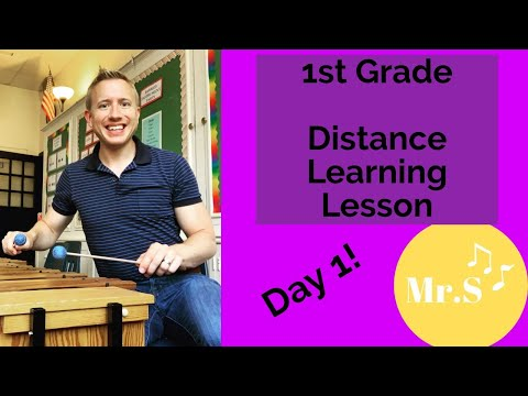 1st Grade Elementary Music Class Day 1, A Distance Learning Orff Lesson with Mr. S