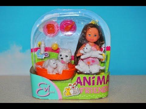 ❀Кукла Еви Обзор игрушечного набора Куклу Еви подруга животных