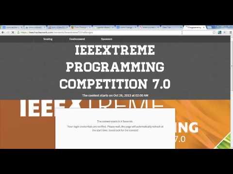 لحظات بدء مسابقة ال iEEEXtreme