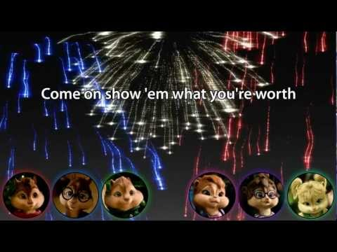 The Chipmunks & The Chipettes - Born This Way / Ain't No Stoppin' Us Now / Firework (with lyrics)
