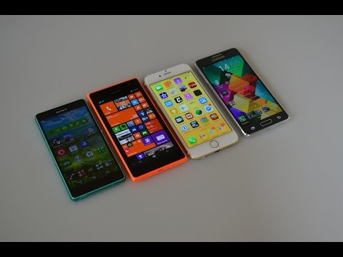 iPhone 6 vs Galaxy Alpha vs Z3 Compact vs Lumia 735   Confronto da HDblog