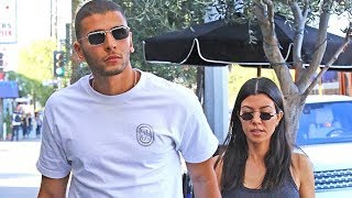 Kourtney Kardashian And Boy Toy Younes Bendjima Hold Hands On A Lunch Day-Date