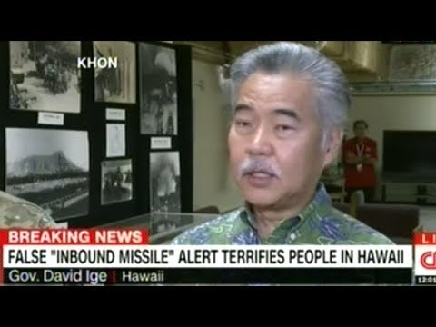 """Pushed The Wrong Button"" Hawaii's Governor Ige Press Conference On FALSE Emergency Alert"