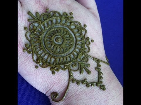 Mehndi Mandala Simple Henna Design