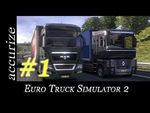 Euro Truck Simulator 2 - E01 - Getting Started (Settings & Tutorial gameplay video in English)